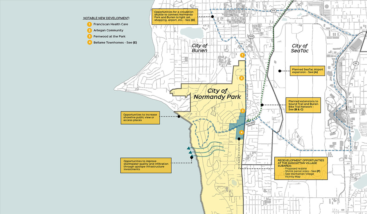 Normandy Park Opportunity Map: City and Neighboring Vicinity